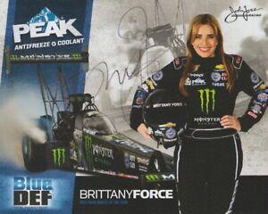 2015 Brittany Force signed Peak Antifreeze Top Fuel NHRA Hero Card