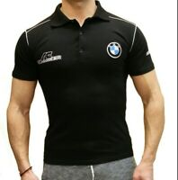 BMW AC Schnitzer T-shirt Polo de sport T-shirt brodé Fan Homme Noir Coton Auto