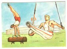 Cartolina Illustrata XVII Olimpiade Roma 1960 - Ginnastica Artistica