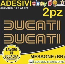 2 Adesivi Stickers DUCATI OLD panigale 848 1098 999 749 916 998 748 996 ORO GOLD