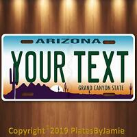 ARIZONA YOUR TEXT  Personalized Custom Aluminum License Plate Tag New