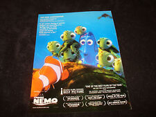 FINDING NEMO 2003 Oscar ad with Dory, Best Animated Film, Pixar, Ellen DeGeneres