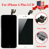 Full Replacement For iPhone6 Plus LCD Digitizer Touch Screen Assembly+Button US