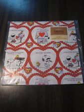 Vintage Wrapping Paper New/Sealed Valentine's Day Hallmark Peanuts x2 Lot Snoopy
