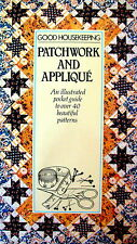 PATCHWORK and APPLIQUÉ an illustrated pocket guide to over 40 patterns - VGC