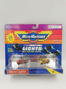 Vintage Micro Machines Micro Lights Set #7 Delivery Van & Ford Van, HTF New