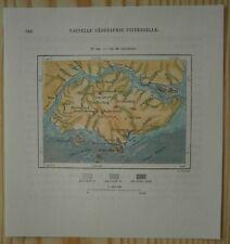 1883 Perron map SINGAPORE ISLAND (#198)