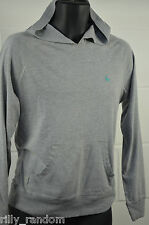 Mens Grey Hoodie Hooded Long Sleeve Top Jumper UK Size S From River Island