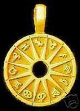 SALE Zodiac signs Wheel astrology Silver Charm Gold Plated
