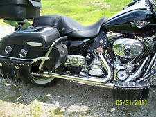 PLAIN LEATHER Saddle Heat Shield and Deflector Fits Harley Touring