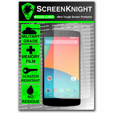 ScreenKnight LG Google Nexus 5 FRONT SCREEN PROTECTOR invisible Military shield