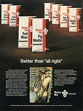 1974 Central Soya Master Mix Pig Hog Starter Feed Print Ad