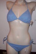 NEW Tommy Hilfiger lt blue bikini swimsuit crochet lace small top medium bottom