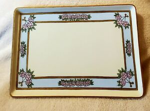Antique Vanity Perfume Tray Porcelain T & V Limoges France Hand Painted 11x7