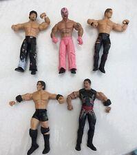 bundle of  wwe / wwf wrestling action figures wrestler jakks lot  7