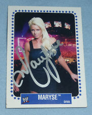 Maryse Ouellet Signed 2008 Topps Heritage IV 4 WWE Card Wrestling Diva Autograph
