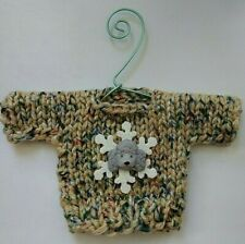 Multicolored Snowflake and Poodle  MINI Christmas sweater Ornament