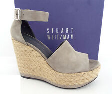 2a50a18dd7d New STUART WEITZMAN Size 9 SOHOJUTE Gray Suede Espadrille Wedge Sandals  Shoes