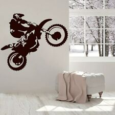 Wall Stickers Motorcross Motorcycle Vinyl Decal Moto Decor Extreme Sport Poster