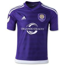Orlando City SC adidas Authentic Home Soccer Jersey 2015 Purple Small 7418A MLS