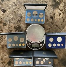 Belize 8-Coin All Silver Proof Sets & BVI 6-Coin Proof Sets • 5 Set Lot • RARE !