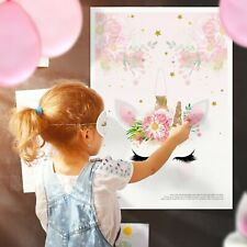 Pin the Horn on the Unicorn Games - Pin the Tail Game Birthday Children • PH2