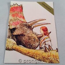 DINOTOPIA #9 Reassuring a Triceratops Trading Card James Gurney Collect-A-Card