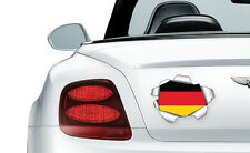 COOL RIPPED/TORN METAL EFFECT GERMAN FLAG - vinyl wall, car, decal sticker