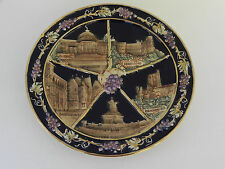 Vintage Germany Souvenir Plate - Weisbaden/ Heidelberg/ Bacharach/ Drachenfels