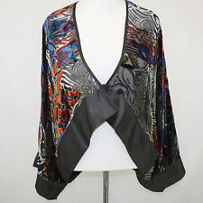 NEW NWT Cocoon House Intrigue Sheer Velvet Artisan Short Kimono Jacket Top L/Xl