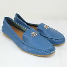 Coach Ladies Blue Leather Opal Loafers Size 9.5