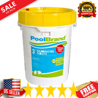 "Pool Brand 50 lbs. 3"" Inch Swimming Pool Chlorine Tablets"