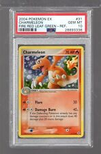 2004 EX Fire Red Leaf Green 31/112 CHARMELEON REFRACTOR PSA 10 Pokemon ONLY 12