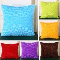 New Throw Pillow Case Bright Color Cosy Pillowcase Sofa Car Waist Cushion Cover