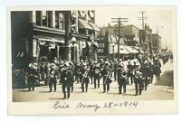 RPPC Band Music Parade in Downtown ERIE PA 1914 Erie County Real Photo Postcard