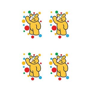 CHILDREN IN NEED SPOTS WAVING - IRON ON TSHIRT TRANSFER - A6