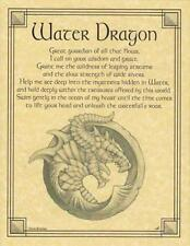 Water Dragon Parchment for Book of Shadows Page, Altar!