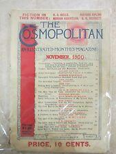 THE COSMOPOLITAN MAGAZINE EARLY NOVEMBER 1900 JACK LONDON STORY: WHAT COMMUNITES