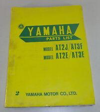 Catálogo de piezas/Spare Parts List yamaha at2j/at3f/at2e/at3e stand 07/1972