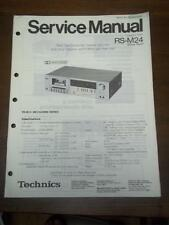 Original Technics Service Manual for the RS-M24 Cassette Deck~Repair