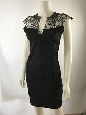 Charlotte Russe Black Sleeveless Lace V Neck Bodycon Party Dress Jrs Size M A213