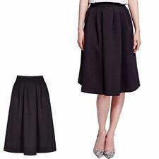 Calf Length Satin Patternless Formal Skirts for Women
