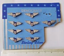 Rare Democracy sterling wings lot.