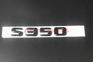 Gloss Black ABS S 350 Letters Trunk Badge Emblem Sticker for Mercedes Benz S350