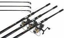 Carp Fishing Setup 3x 12ft 3 Piece Carp Rods 2.75lb & 3x Free Spool Runner Reels