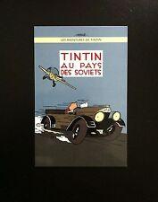 HERGE * TINTIN AU PAYS DES SOVIETS * VERSION COLORISEE * LA CARTE POSTALE