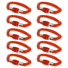 10x Safety 25Kn Screw Lock Carabiner for Rock Climbing Mountaineering Caving