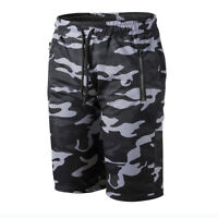 Mens Military Camouflage Cargo Army Camo Rude Loose Elastic Shorts Pants WA9861