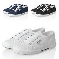 Superga Damen Sneaker Low Top Canvas Sportschuhe Schnürer Color NEU SALE %