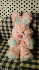 "Animal Adventure 10"" Bunny baby lovey 2016 Plush Toy Pink Polka Dot blue white"